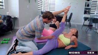 Are You Serious Mom? – Yoga Step Mom Fucks My Bf and I Join in